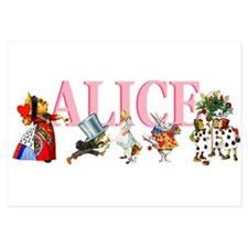 !! Alice pink copy.png 3.5 x 5 Flat Cards