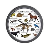 Missouri State Animals Wall Clock