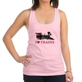 I LOVE TRAINS RED copy.png Racerback Tank Top