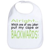 Backwards Cape Green Bib