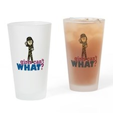 Army Girl Drinking Glass