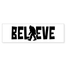 Believe in the Sasquatch Bumper Car Sticker