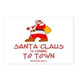 Santa Claus Is Coming Postcards (Package of 8)