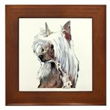 Chinese Crested Portrait Framed Tile