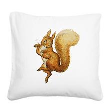 Squirrel Nutkin Square Canvas Pillow