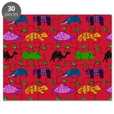 Animals Purple Turtles Blue Elephant Puzzle