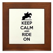 Keep calm and ride on Framed Tile