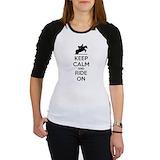 Keep calm horse shirts Raglan