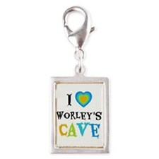 I Love Worleys Cave Silver Portrait Charm