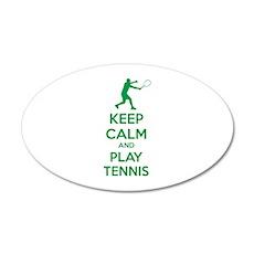 Keep calm and play tennis 38.5 x 24.5 Oval Wall Pe