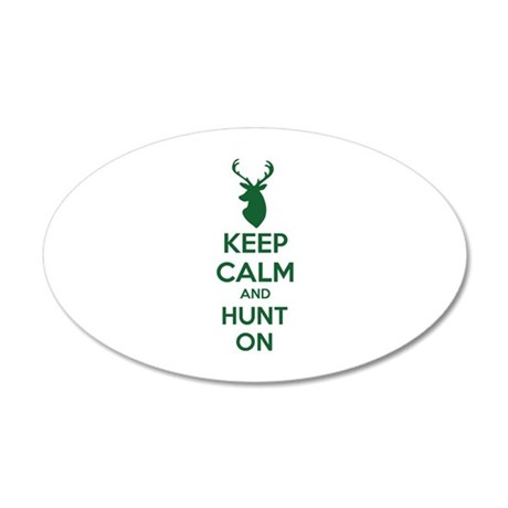 Keep calm and hunt on 22x14 Oval Wall Peel