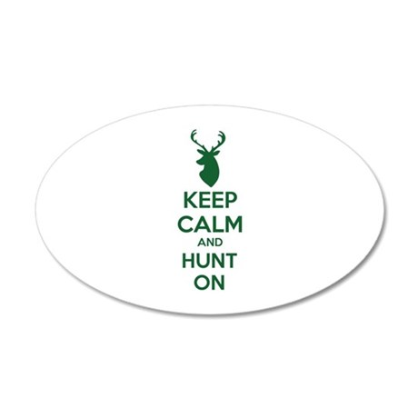 Keep calm and hunt on 38.5 x 24.5 Oval Wall Peel