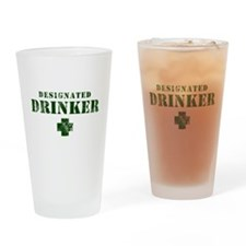 Designated Drinker Drinking Glass
