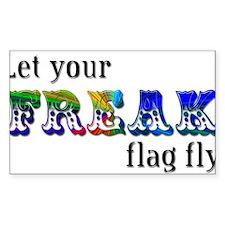 Freak Flag Rectangle Decal