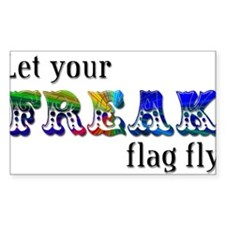 Freak Flag Rectangle Stickers