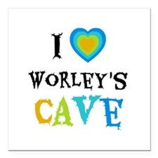 "I Love Worleys Cave Square Car Magnet 3"" x 3"""