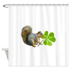 Shamrock Squirrel Shower Curtain