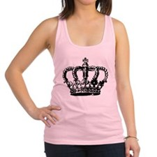 Black Crown Racerback Tank Top