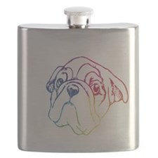 Rainbow Bulldog Flask