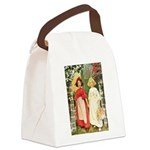Snow White and Rose Red.png Canvas Lunch Bag
