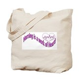 Nursing, Work of Heart Tote Bag