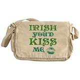 Vintage Irish Youd Kiss Me Messenger Bag
