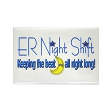 ER Night Shift Rectangle Magnet