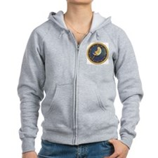 ! ONCE IN A BLUE MOON CLOCKx.png Zipped Hoodie