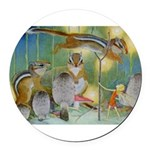 The Fairy Circus004_10x14.png Round Car Magnet