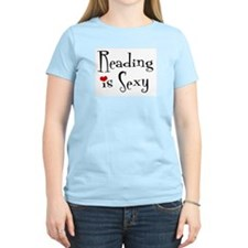 Reading is Sexy Women's Pink T-Shirt
