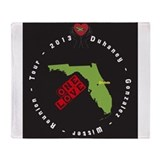 """ONE LOVE REUNION 2013"" Image Throw Blanket"