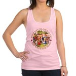 alice who let blondie_gold copy.png Racerback Tank