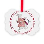 alice RABBIT im late red copy.png Picture Ornament