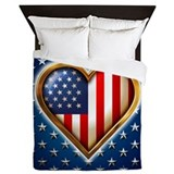 US Flag Queen Duvet