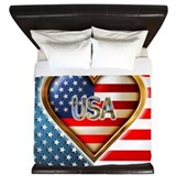 Heart Shaped Flag King Duvet