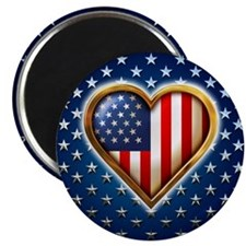 USA Heart Shaped Flag Magnet