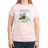 Democracy & Liberty Women's Pink T-Shirt