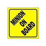 Minion on Board Car Sign Sticker