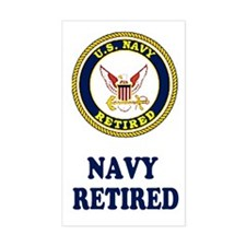 Retired Navy Rectangular Decal