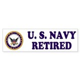 Retired Navy Bumper Car Sticker