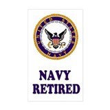 Retired Navy Decal