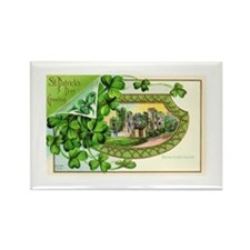 St Patrick Day Card Rectangle Magnet
