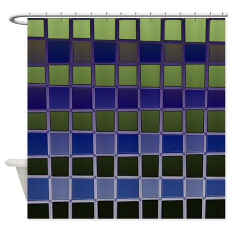 Blue And Green Shower Curtain By Coppercreekdesignstudio
