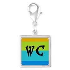 Worleys Cave Silver Square Charm