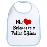 My Heart Belongs to a Police Officer Bib