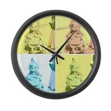 Vintage Red Riding Hood Large Wall Clock