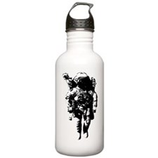 The Astronaut Moon Man Water Bottle