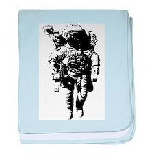 The Astronaut Moon Man baby blanket