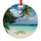 Tropical beach - Round Ornament (Aluminum)