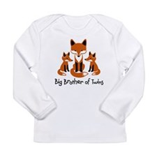 Big Brother of Twins - Mod Fox Long Sleeve Infant
